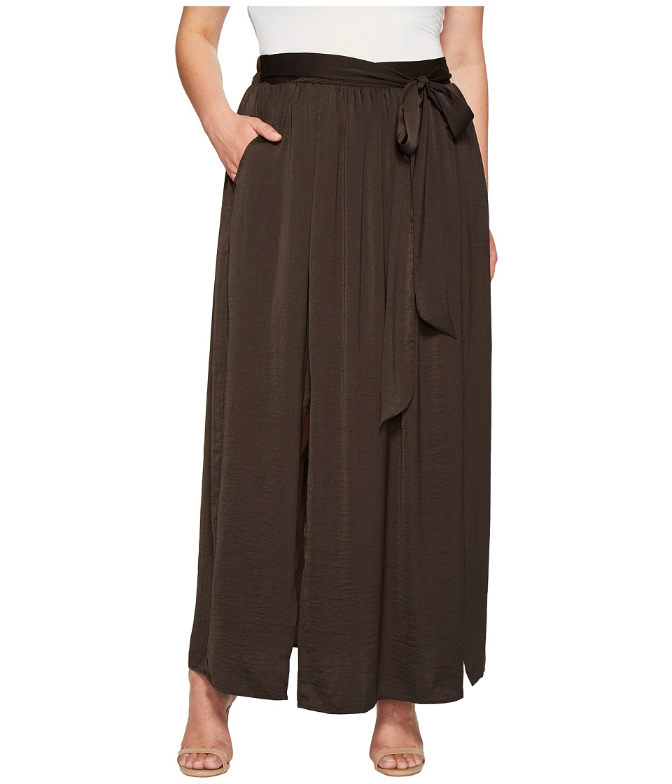 B Collection by Bobeau Curvy Plus Size Rosemary Maxi Skirt (Charcoal Grey) Women