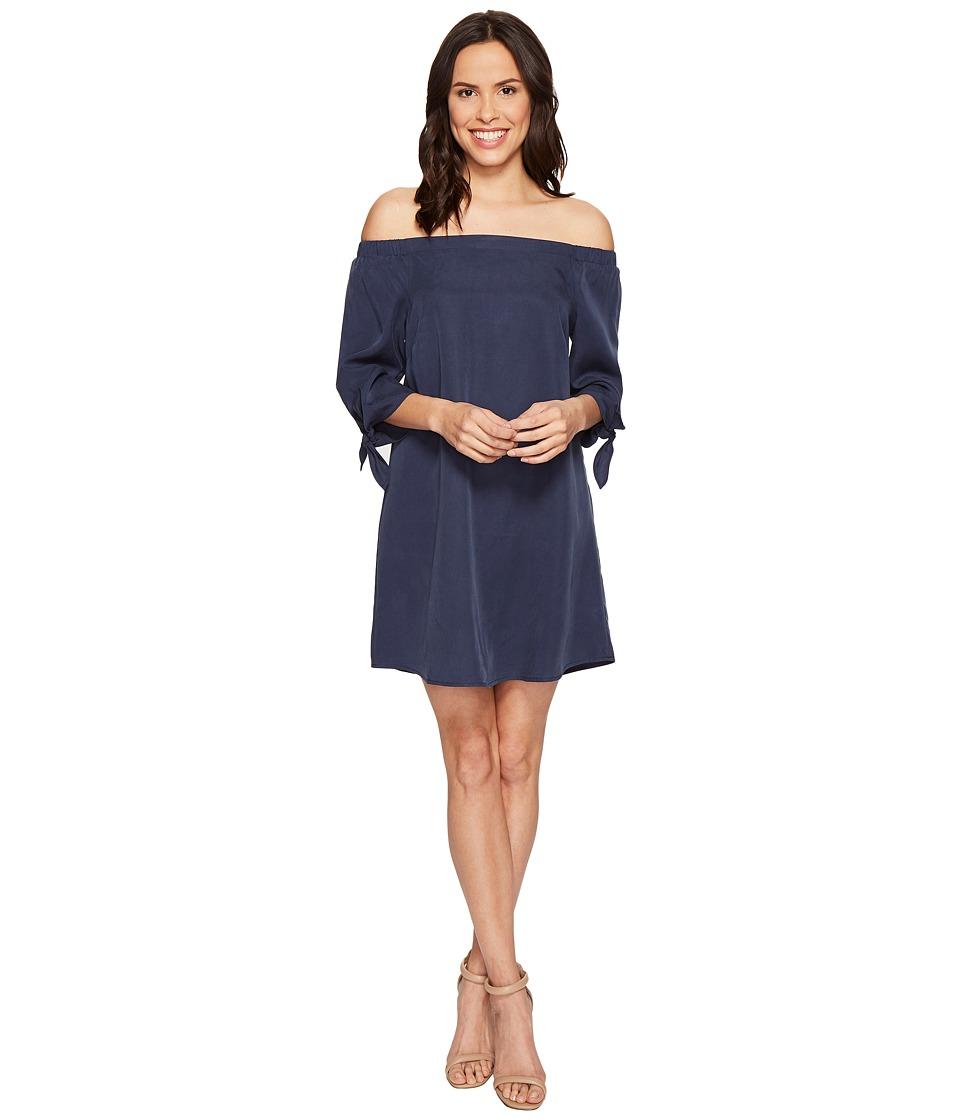 B Collection by Bobeau Lyocell Off Shoulder Dress (Navy) Women
