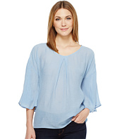 B Collection by Bobeau - Flare Sleeve Blouse