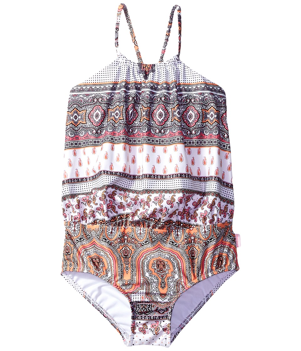 Seafolly Kids - Moroccan Paisley Blouson Tank One-Piece
