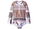 Seafolly Kids Moroccan Paisley Long Sleeve Surf Tank One-Piece (Infant/Toddler/Little Kids)