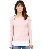 Ivanka Trump - Zipper Sweater with Cotton Shirt