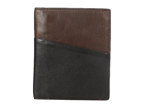 Fossil RFID Leather Passport Case - Black
