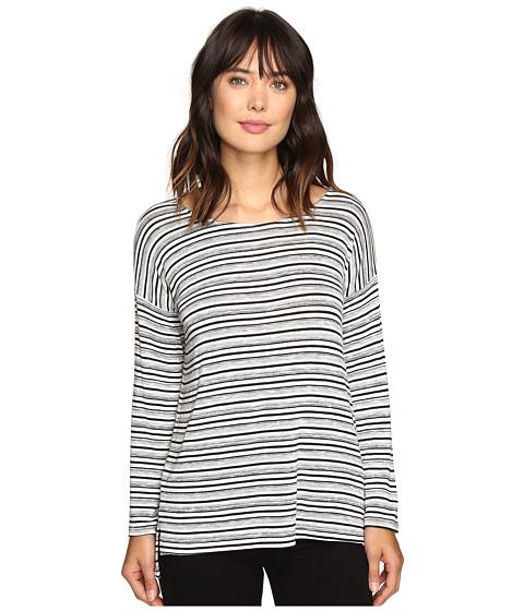 Karen Kane Drop Shoulder Hi-Low Top - Stripe