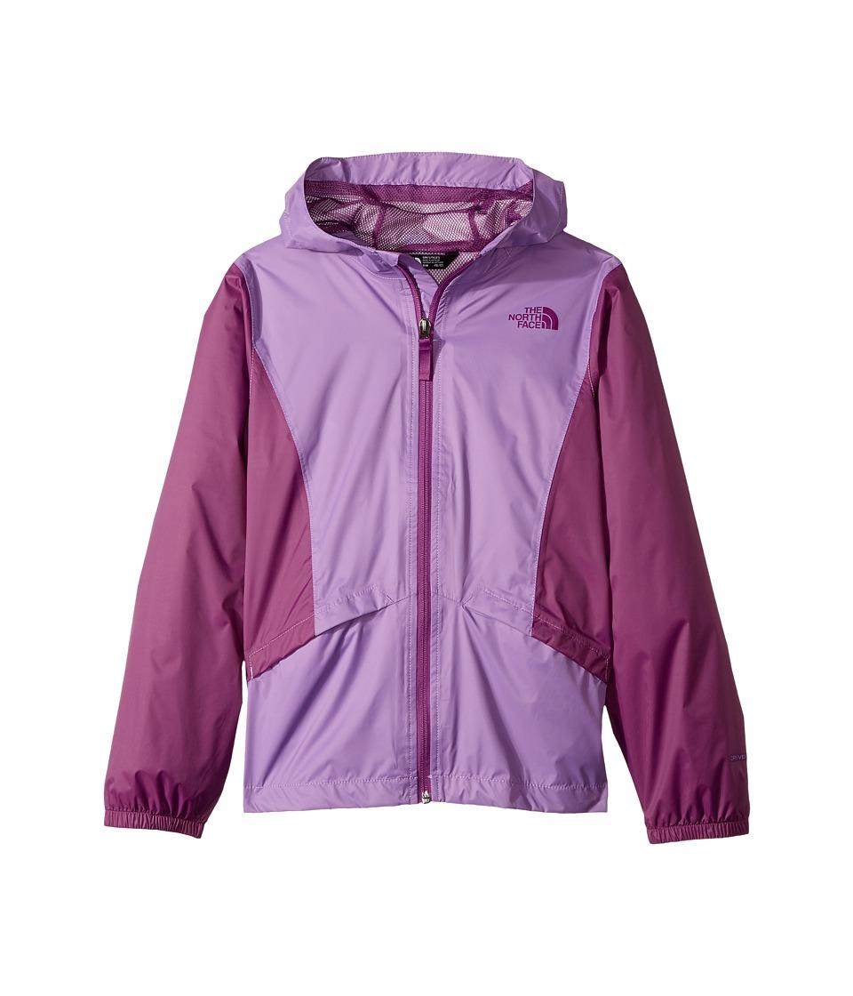 The North Face Kids Zipline Rain Jacket (Little Kids/Big Kids) (Bellflower Purple/Wood Violet) Girl