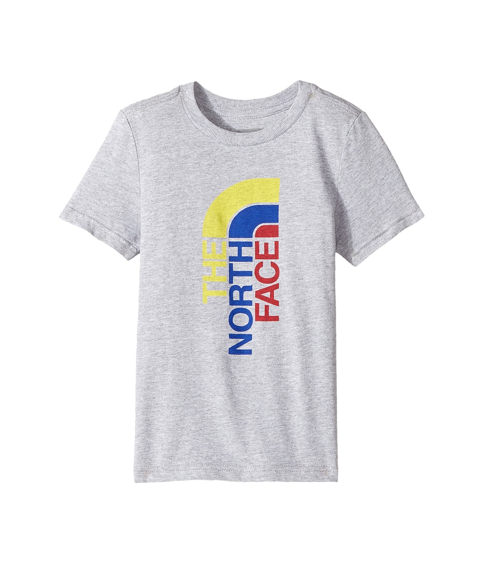 The North Face Kids Short Sleeve Graphic Tee (Toddler) (TNF Light Grey Heather/Multicolor) Boy