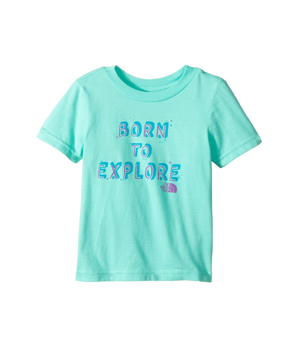 The North Face Kids Short Sleeve Graphic Tee (Toddler) (Bermuda Green) Girl