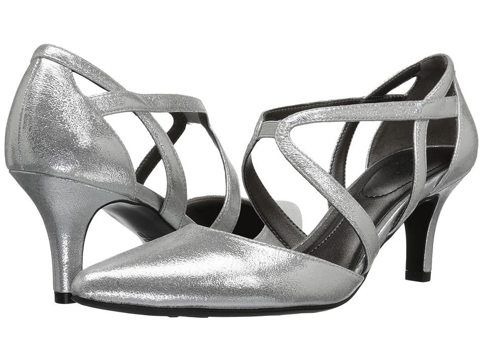 1930s Style Shoes LifeStride - Seamless Silver High Heels $59.99 AT vintagedancer.com