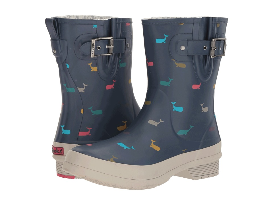 Chooka Classic Mid Whales (Navy Matte) Women