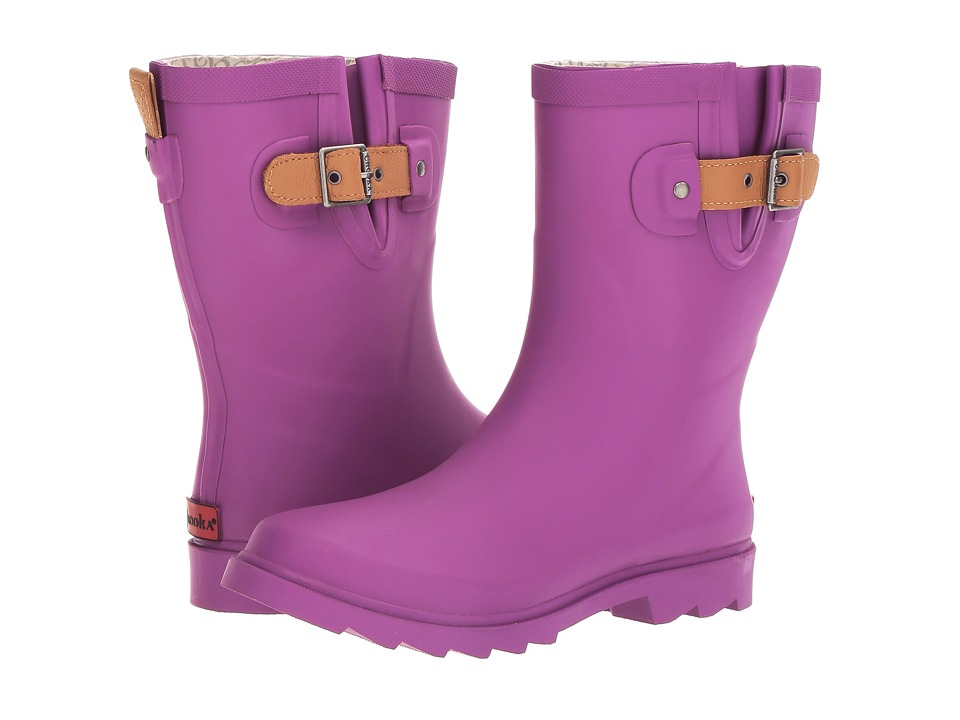 Chooka Top Solid Mid Rain Boot (Deep Orchid Matte) Women