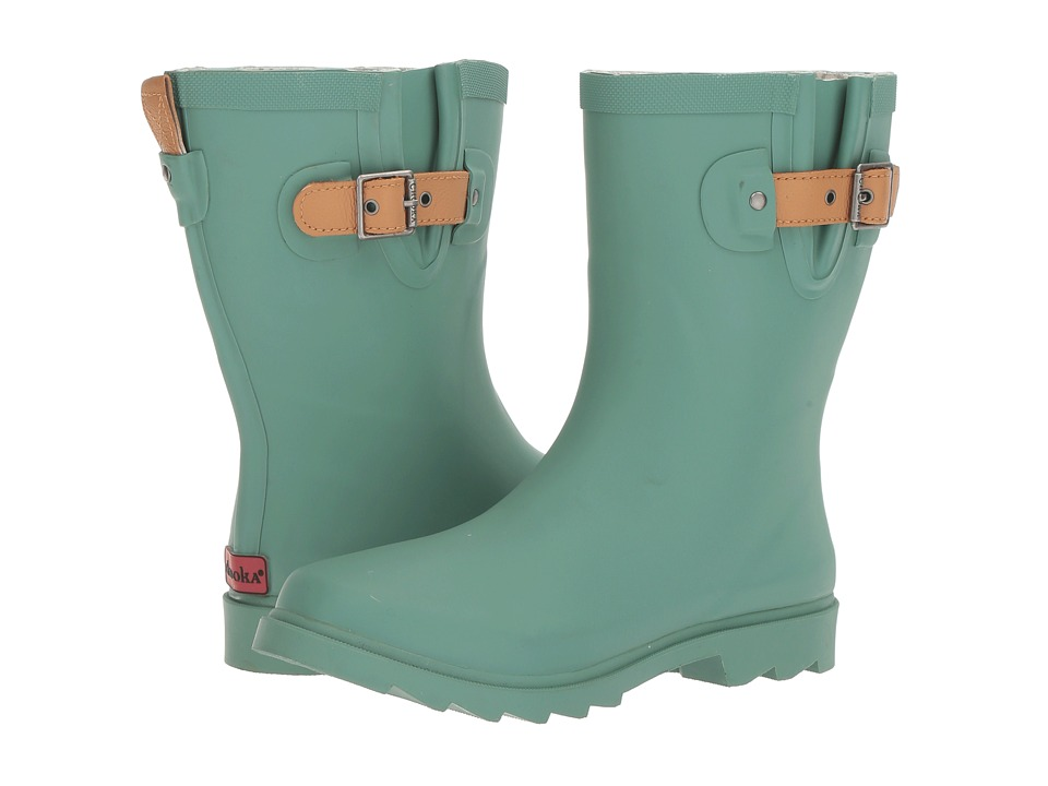 Chooka Top Solid Mid Rain Boot (Sage Matte) Women