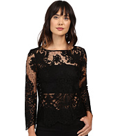 Karen Kane - Flare Sleeve Embroidered Top