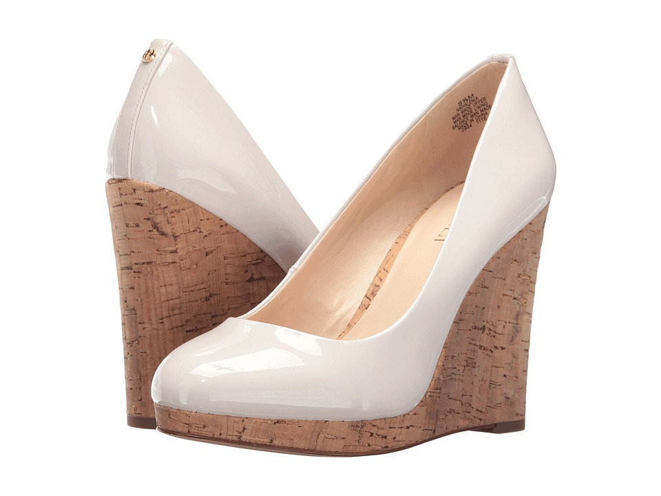 Nine West - Halenia 3 (Off-White Patent) Womens Wedge Shoes