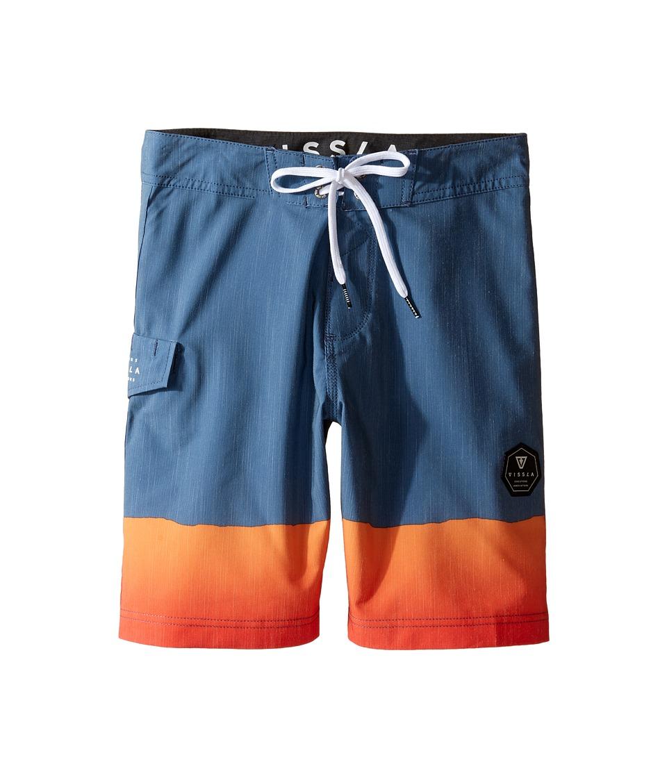 VISSLA Kids So Stoked Four-Way Stretch Boardshorts 17 (Big Kids) (Strong Blue) Boy
