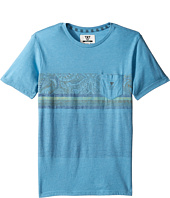 VISSLA Kids - Shark Alley Heathered Short Sleeve Knit (Big Kids)