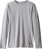VISSLA Kids - Dead Low Long Sleeve Heathered Surf Tee (Big Kids)