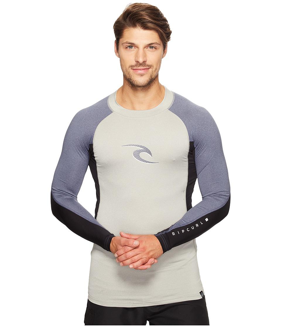 Rip Curl Wave Long Sleeve UV Tee (Grey) Men