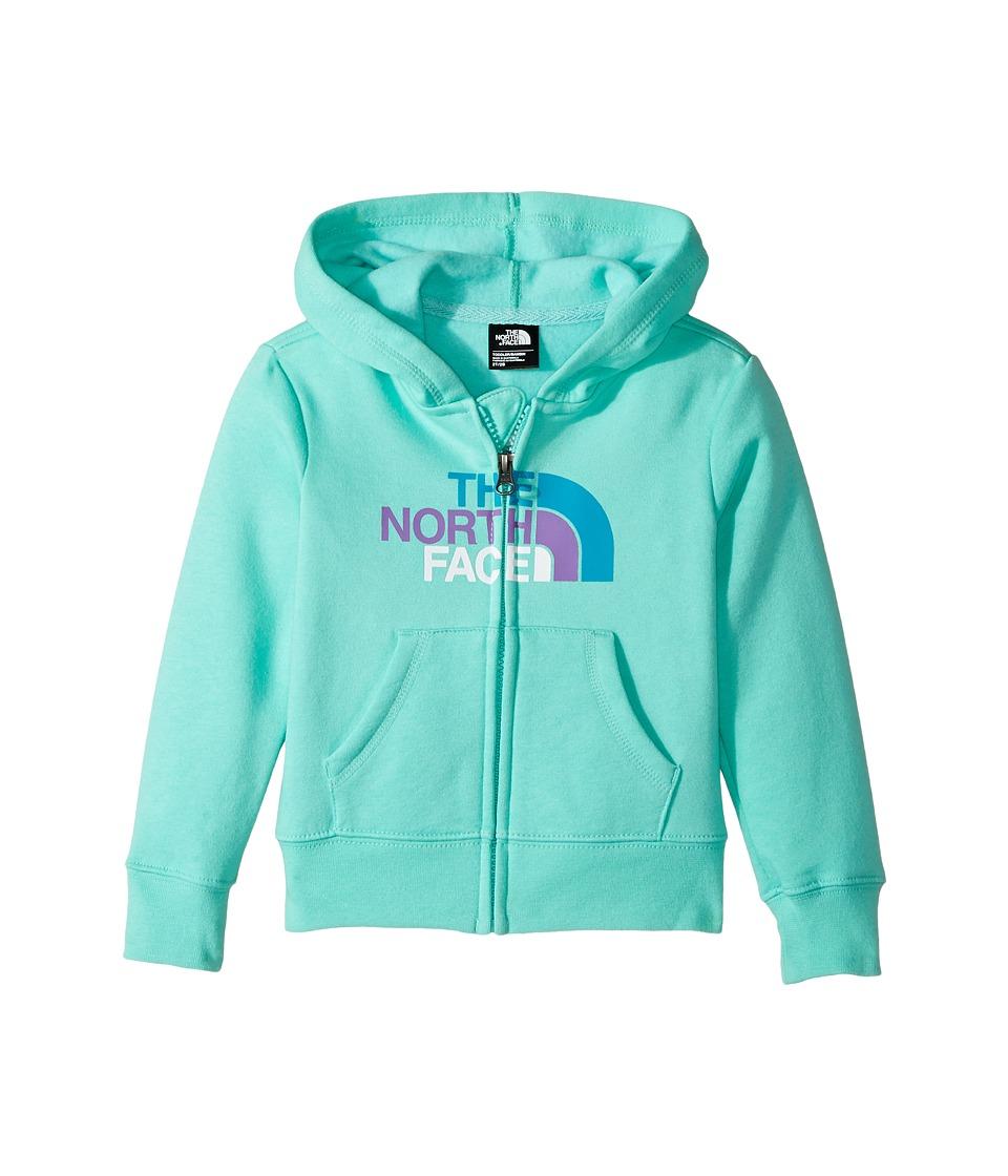 The North Face Kids Logowear Full Zip Hoodie (Toddler) (Bermuda Green) Girl