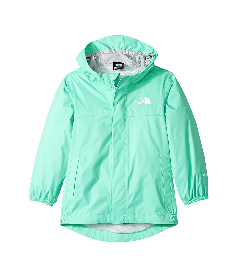 The North Face Kids Tailout Rain Jacket (Toddler) (Bermuda Green/High-Rise Grey) Girl