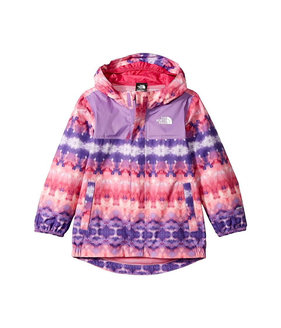 The North Face Kids Tailout Rain Jacket (Toddler) (Bellflower Purple Fair Isle Print/Petticoat Pink) Girl