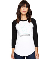 Converse - Flocked Box Star Raglan Tee