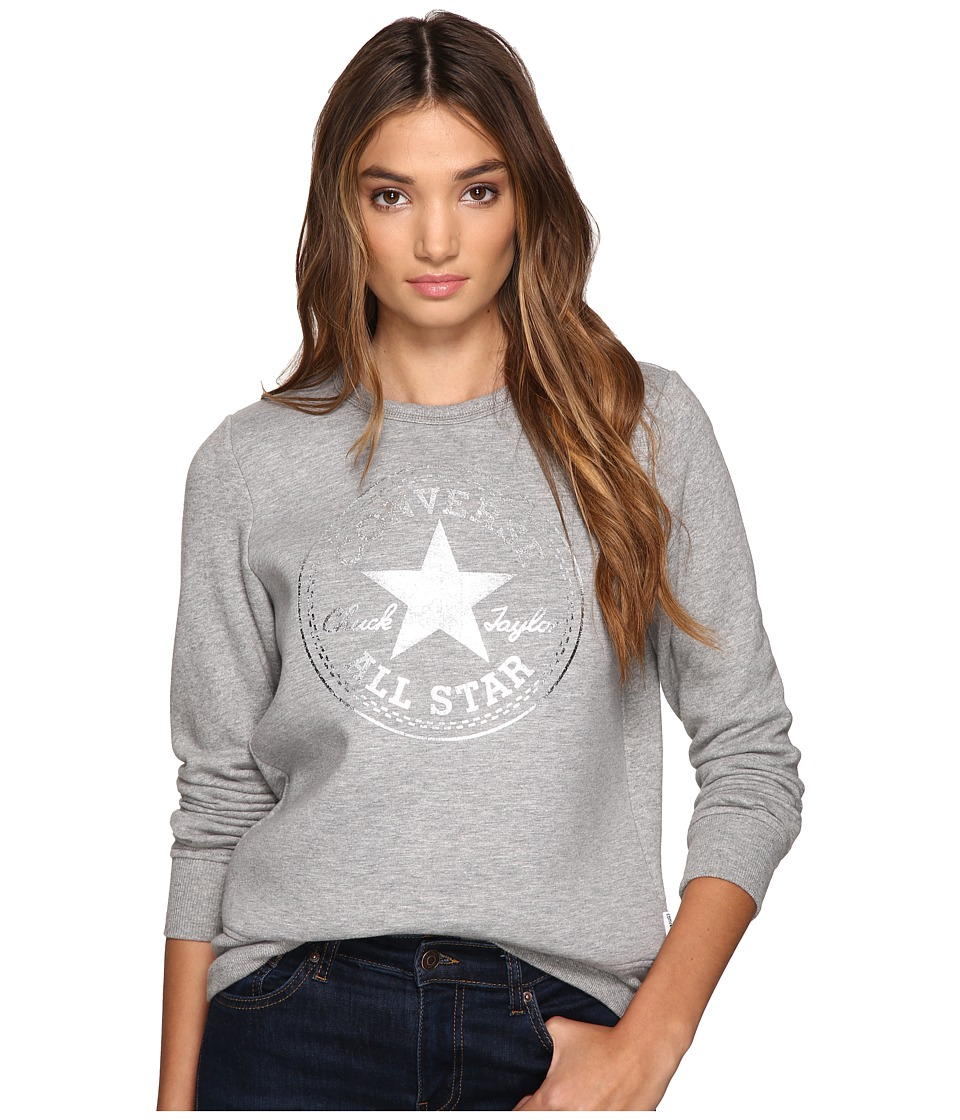 Converse Converse - Chuck Patch Metallic Dot Crew Fleece Top