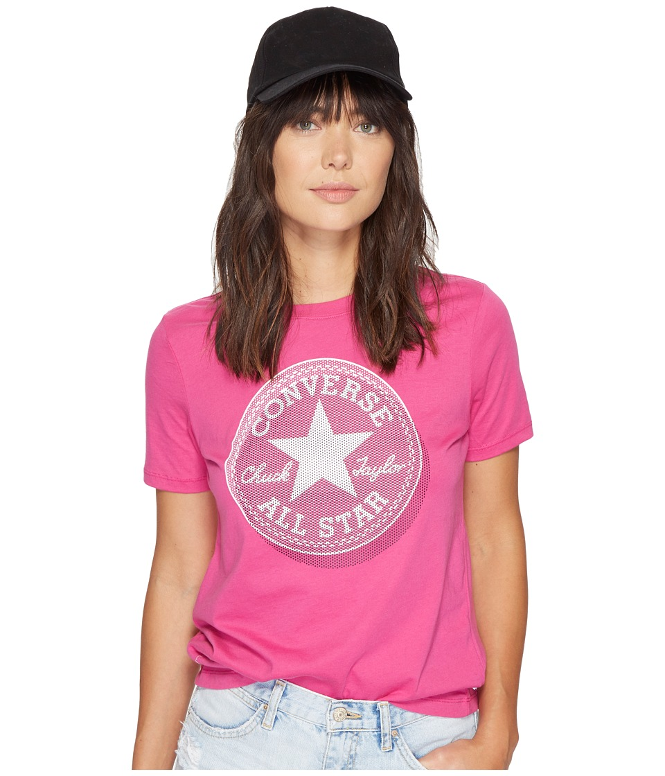 Converse Microdot Chuck Patch Classic Crew Tee (Magenta Glow/Pink) Women