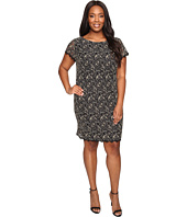 London Times - Plus Size Lace Sheath w/ Scallop Lace Trim