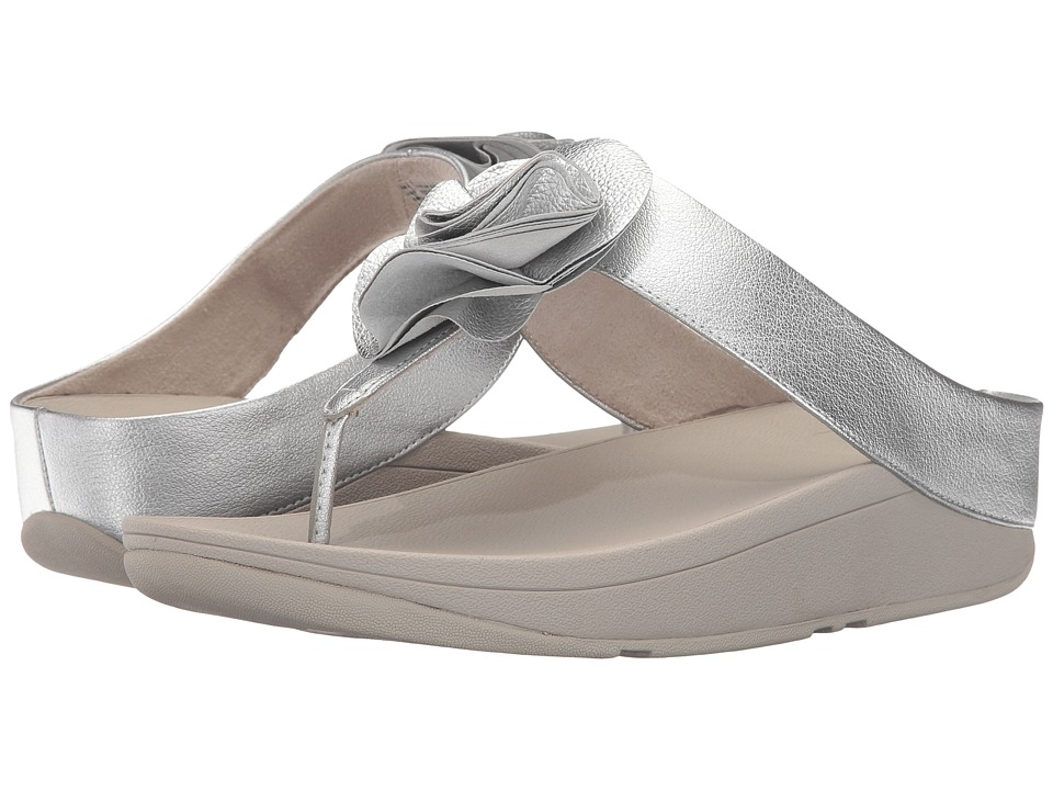FitFlop Florrie Toe-Post (Silver) Women