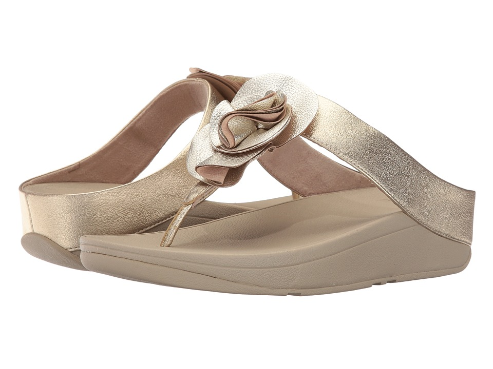 FitFlop Florrie Toe-Post (Pale Gold) Women