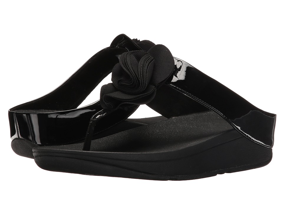 FitFlop Florrie Toe-Post (Black) Women