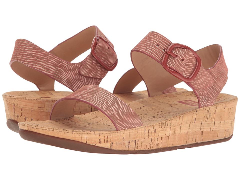 FitFlop Bon Lizard Print Sandal (Spice) Women