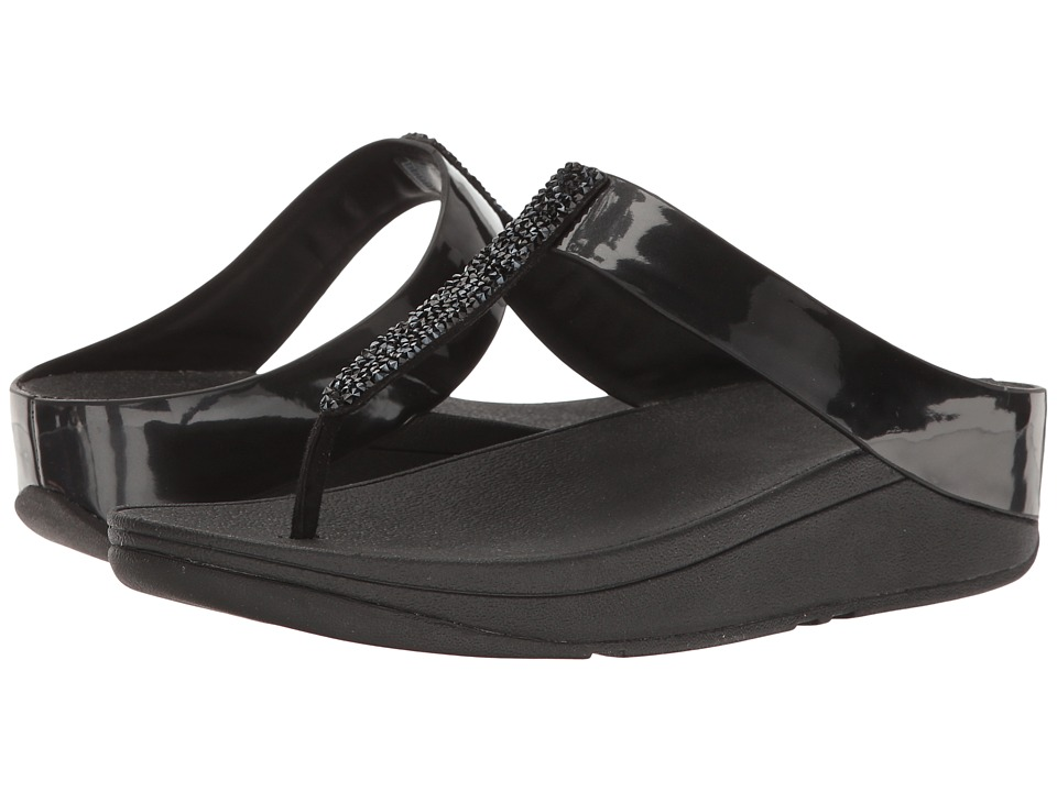 FitFlop Fino Toe Post (Black) Women