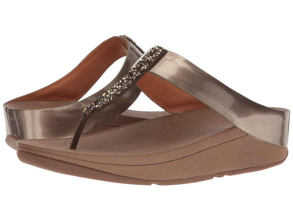 FitFlop Fino Toe Post (Bronze) Women
