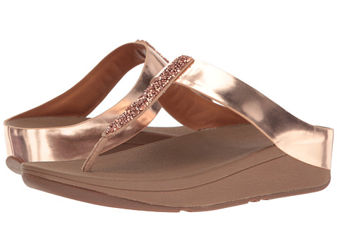 FitFlop Fino Toe Post - Rose Gold