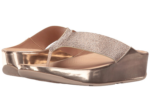 FitFlop Crystall Toe Post - Rose Gold