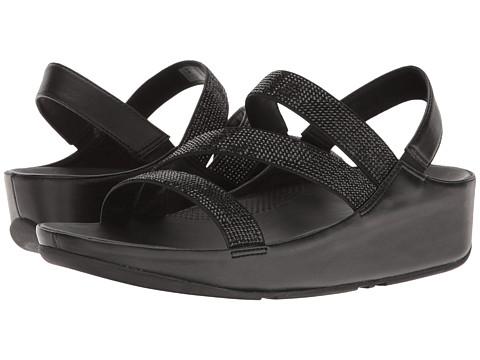 FitFlop Crystall Z-Strap Sandal - Black