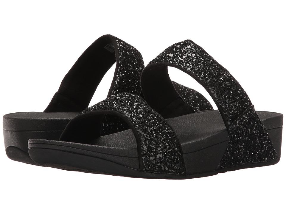 FitFlop Glitterball Slide (Black) Women