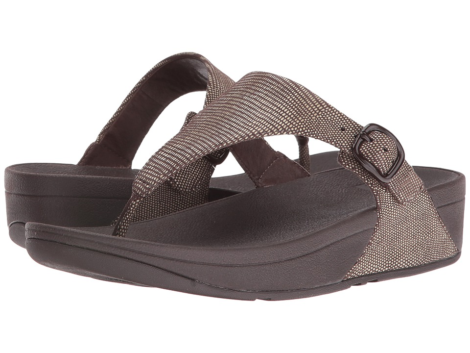 FitFlop The Skinny Lizard Print (Chocolate Brown) Women