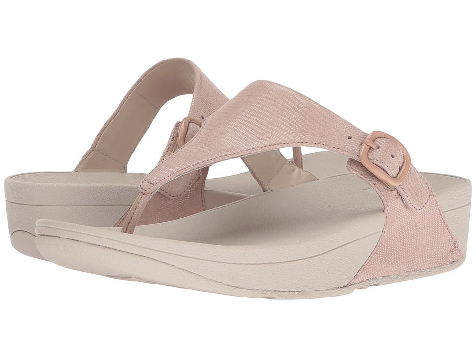 FitFlop The Skinny Lizard Print (Nude Pink) Women