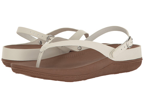 FitFlop Flip Leather Sandals - Urban White