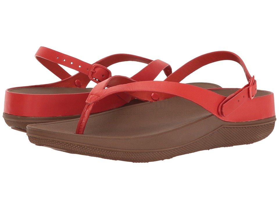 FitFlop Flip Leather Sandals (Flame) Women