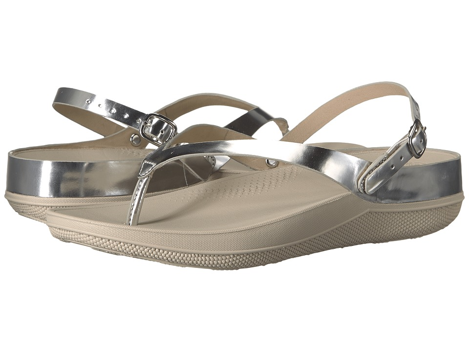 FitFlop Flip Leather Sandals (Silver Mirror) Women
