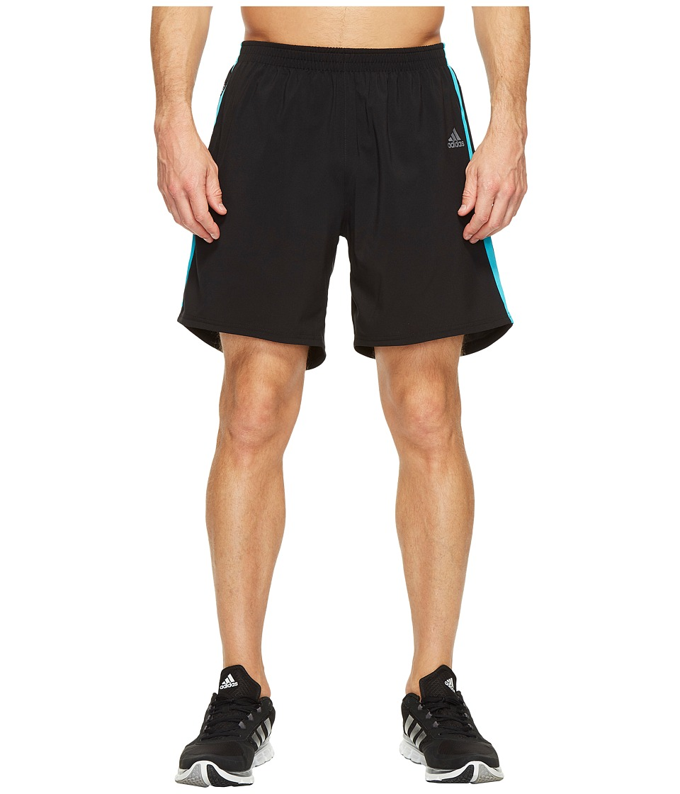 adidas Response 7 Shorts (Black/Energy Blue) Men