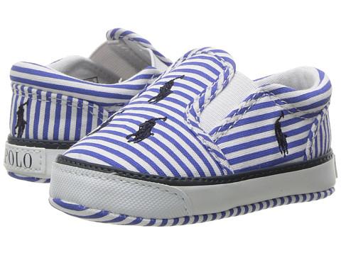 Polo Ralph Lauren Kids Bal Harbour Repeat (Infant/Toddler) - Blue Stripe Poplin/Navy