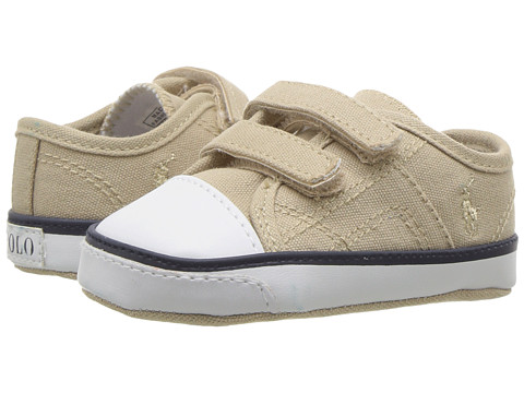 Polo Ralph Lauren Kids Dyland EZ (Infant/Toddler) - Khaki Canvas/Khaki Pony