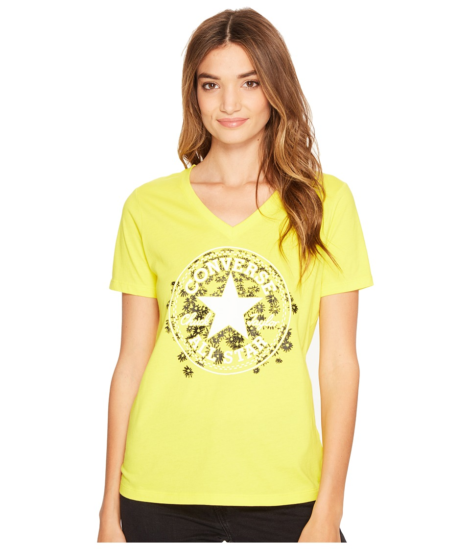 Converse Daisy Chuck Patch V-Neck Short Sleeve Tee (Fresh Yellow) Women