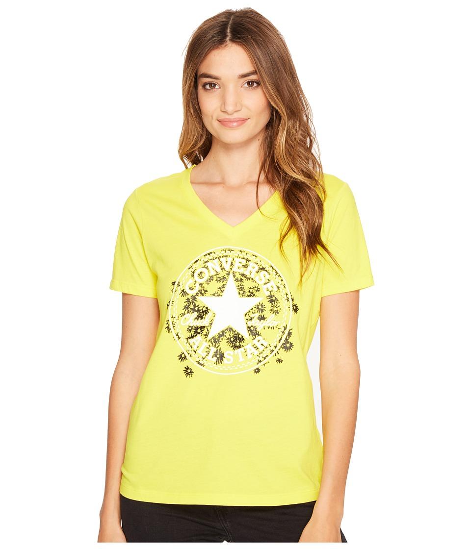 Converse Daisy Chuck Patch V-Neck Short Sleeve Tee (Fresh Yellow) Women