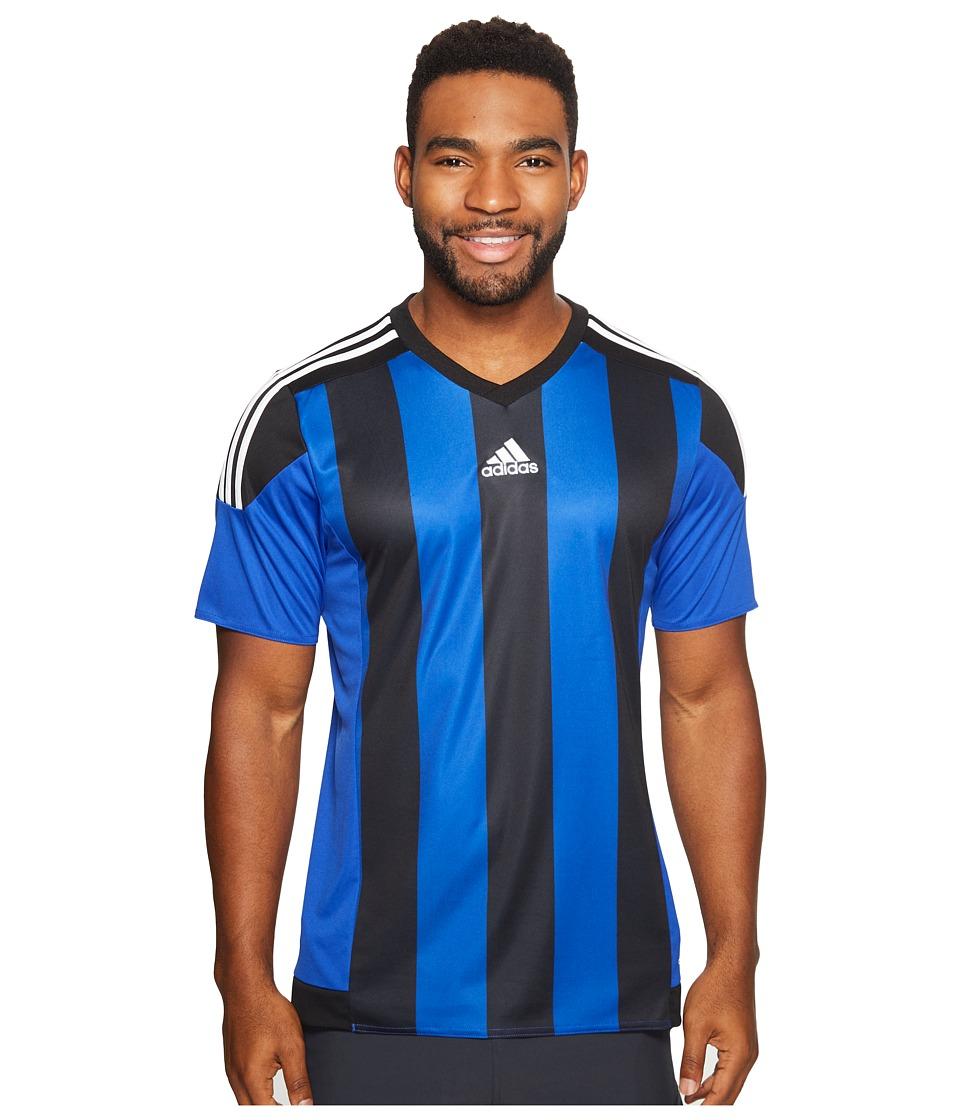 adidas Striped 15 Jersey (Bold Blue/Black/White) Men