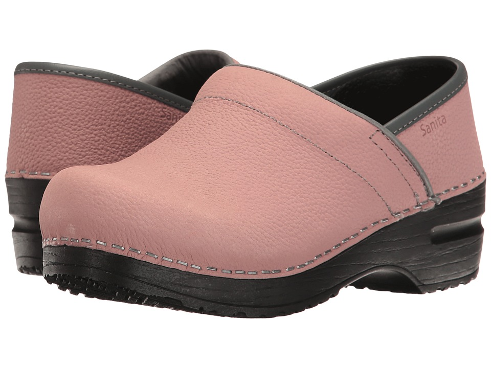 Sanita - Signature Textured Oil Pro (Rose) Womens Clog Shoes